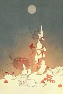Фото Малыш с лисьими ушками и маленькие феньки, by pood1e