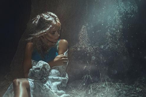 Фото Девушка Настя сидит на земле, фотограф Асиялов Абубакар