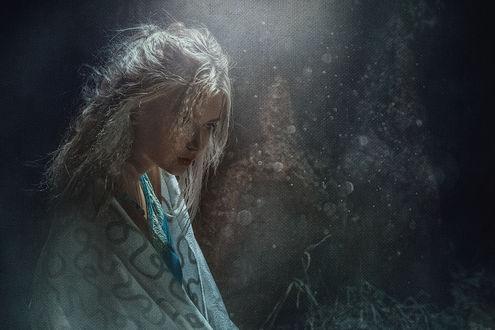 Фото Девушка Настя укуталась в плед, фотограф Асиялов Абубакар