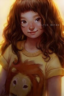 Фото Милая девочка в футболке со львом, by CelticBotan
