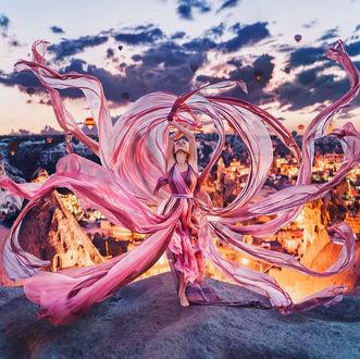 Фото Девушка в развевающемся платье, фотограф Kristina Makeeva