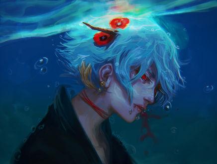 Фото Девушка с рожками под водой, by Kiyoshuki