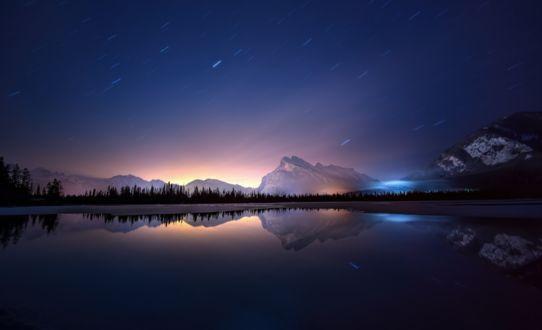 Фото Vermillion Lakes / Вермилион - группа озер и отражение гор и неба в них, Alberta, Canada / Альберта, Канада, by MagicLaDyCharm