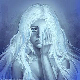 Фото Девушка прикрывает рукой глаз, by TanyaGreece