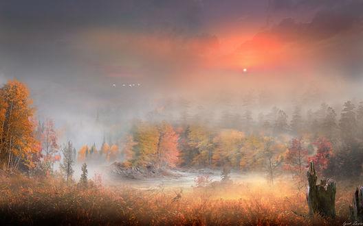 Фото Пейзаж осеннего вечера, фотограф Igor Zenin