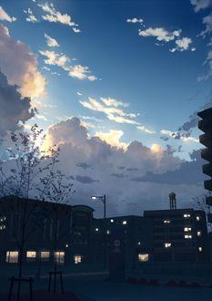 Фото Город под облачным небом