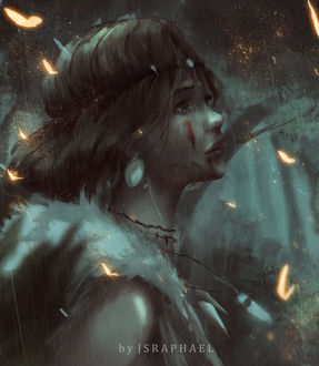 Фото Сан / San из аниме Принцесса Мононокэ / Princess Mononoke, by fate-fiction