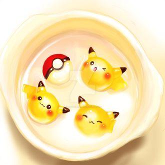 Фото Пикачу / Pikachu и Pokeball / Покеболл из аниме Pokemon / Покемон, by BunnyQueenT