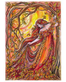 Фото Девушка, олицетворяющая осень, by JankaLateckova