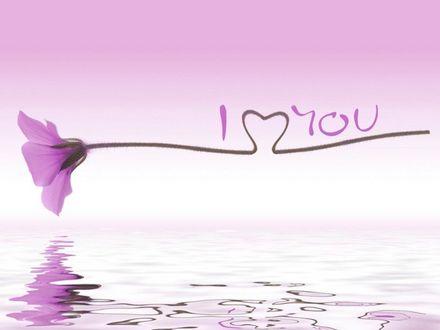 Фото Стилизованная фраза I love you / Я люблю тебя