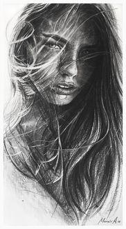 Фото Портрет девушки с длинными волосами, by AndriyMarkiv