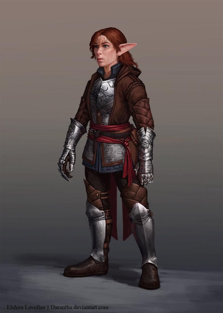 Фото Эльфийка с коричневыми волосами / арт на игру Dragon Age, by Darantha