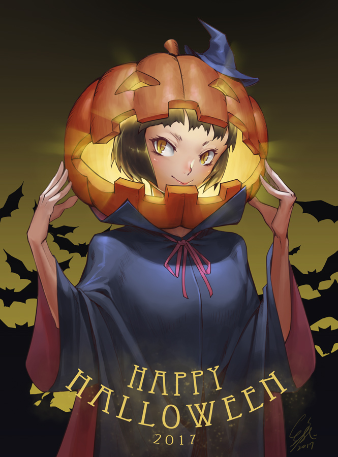 Фото Ведьмочка с тыквой на голове (Happy Halloween 2017), by Redeyehare