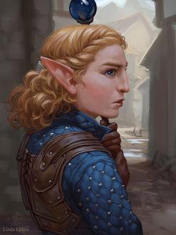 Фото Эльфийка с посохом в руке / арт на игру Dragon Age, by Darantha