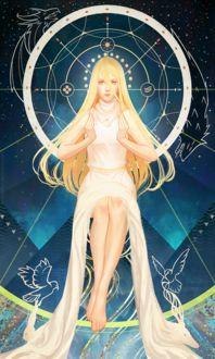 Фото Светловолосая девушка в длинном белом платье / арт на игру Dragon Age, by katorius