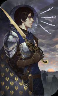 Фото Мужчина в доспехах с мечем / арт на игру Dragon Age, by katorius