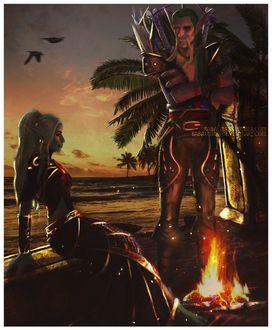 Фото Тролли ночью у костра / арт на игру World of Warcraft, by Sabalmirss
