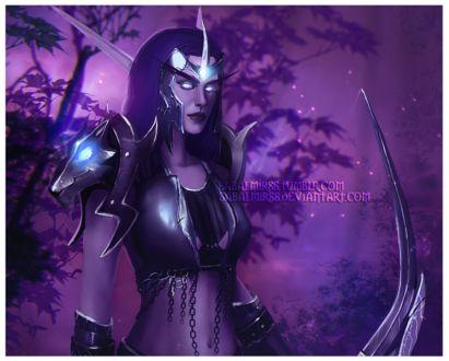 Фото Ночная эльфийка охотница / арт на игру World of Warcraft, by Sabalmirss