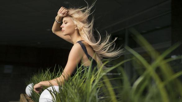 Фото Модель Даша с развевающимися волосами, фотограф Dmitry Arhar