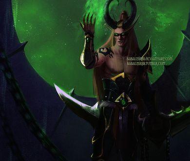 Фото Кровавый эльф охотник на демонов / арт на игру World of Warcraft, by Sabalmirss