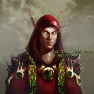 Фото Кровавый эльф в красном капюшоне / арт на игру World of Warcraft, by Sabalmirss
