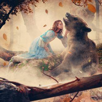 Фото Девочка и медведь, фотограф Ionut Caras