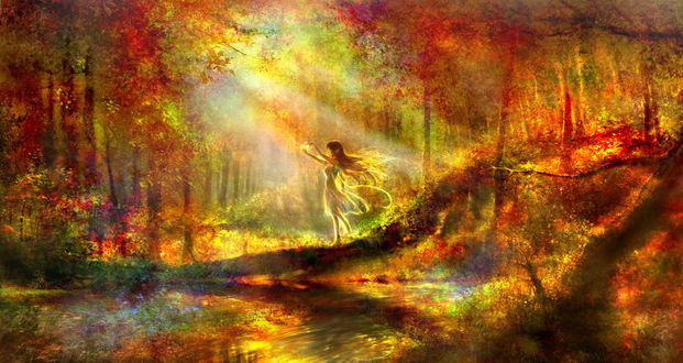 Фото Эльфийка в осеннем лесу, by 00