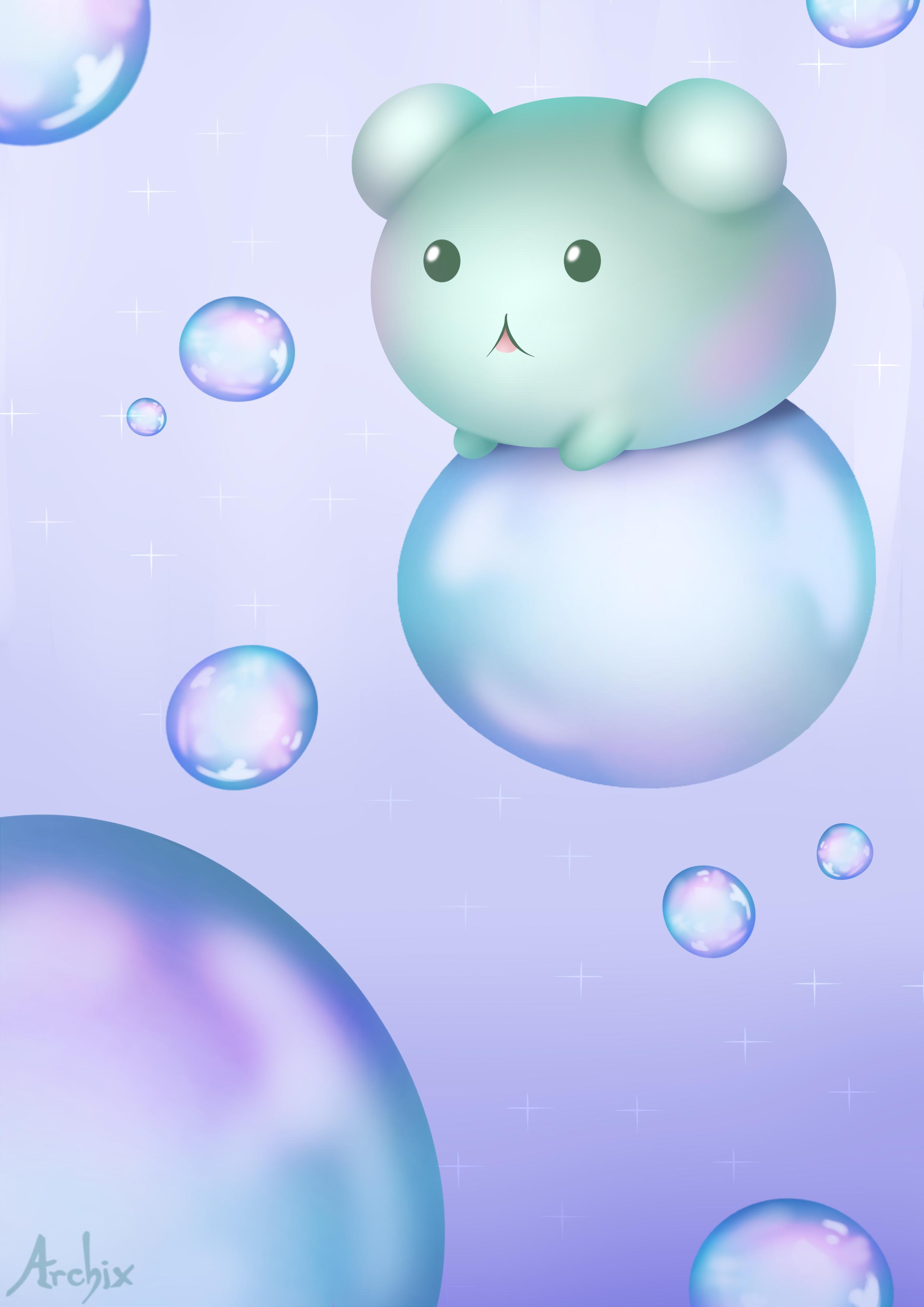 картинки с мультяшными мыльными пузырями пример