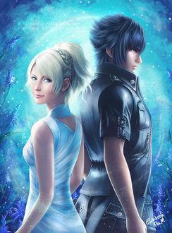 Фото Лунафрейя / Lunafreya и Ноктис / Noctis из игры и аниме Final Fantasy XV / Последняя фантазия XV, by Emeraldus