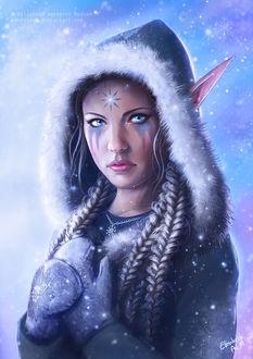 Фото Зимняя девушка-эльфийка, by Emeraldus