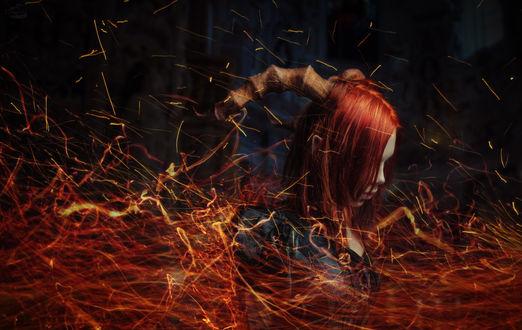 Фото Рыжая дьяволица в адском пламени, by RiperJack