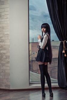 Фото Косплей Риричие Ширакин / Ririchiyo Shirakiin из аниме Я и мой слуга из секретной службы / Inu x Boku SS, модель Лиза Василенко / Lisa Vasylenko, by RiperJack