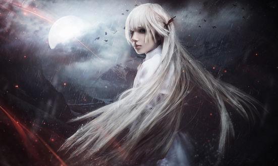 Фото Косплей Сора Касугано / Sora Kasugano из аниме Связанные небом / Yosuga no Sora, модель Лиза Василенко / Lisa Vasylenko, by RiperJack