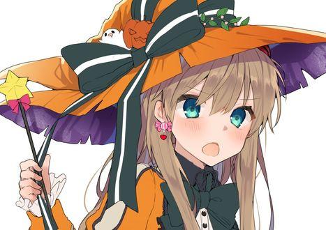 Фото Аска Лэнгли Сорью / Asuka Langley Soryu в костюме ведьмы празднует Halloween из аниме Евангелион / Evangelion, by Ikeuchi Tanuma