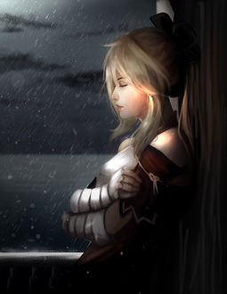Фото Saber Lily под дождем, аниме Sabre / Судьба / ночь пребывания, by Trung Doan