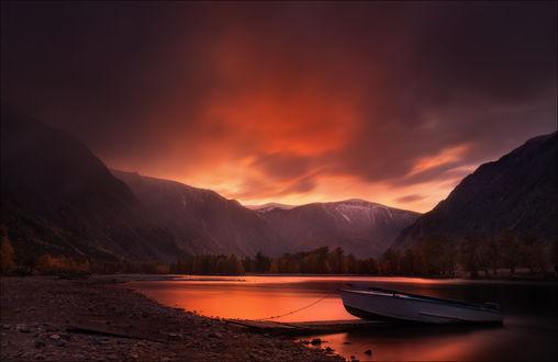 Фото Закат в долине реки Чулышман, вблизи урочища Ак-Курум. Фотограф Влад Соколовский