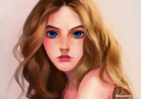Фото Голубоглазая девушка с русыми волосами, by nightknight456