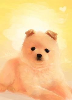 Фото Милый щенок с черными глазами, by nightknight456