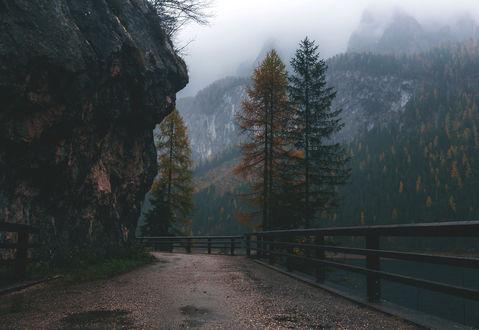 Фото Дорога вдоль отвесной скалы, by Denny Bitte