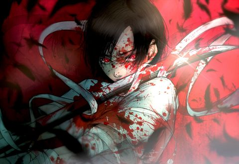 Фото Сая Кисараги / Saya Kisaragi из аниме Кровь-C / Blood-C, by kuroe