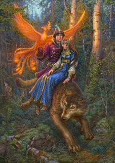 Фото Иван Царевич и серый волк, художник Гилев Степан