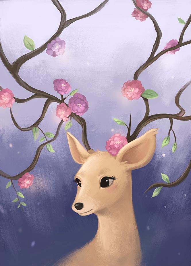 милые картинки с оленями иногда