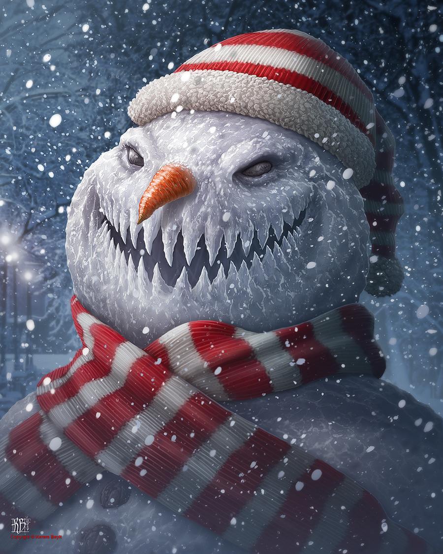 Оформление снеговика из снега фото