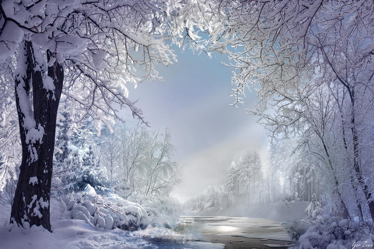 Зимний пейзаж от фотохудожника Игоря Зенина
