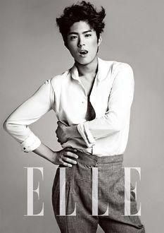 Фото Южнокорейский актер Пак Бо Гом / Park Bo Gum позирует для ELLE