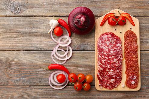 Фото Доска с итальянскими деликатесами