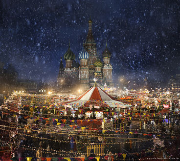 Фото Карусель на Красной площади в предпраздничные дни, фотограф Елена Шумилова
