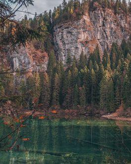 Фото Горное озеро осенью