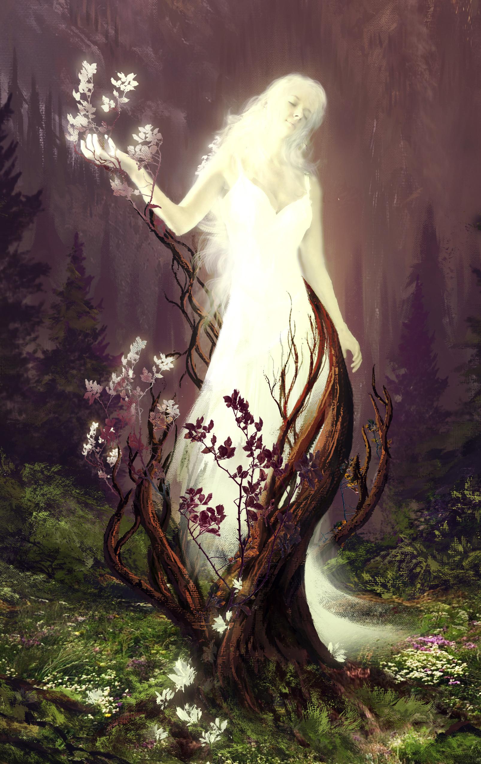 Картинки девушка дерево мистика