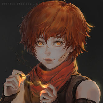 Фото Рыжеволосый мальчик или девочка с магией между руками, by Claparo-Sans